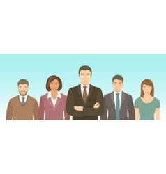 Business people group flat vector