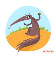 cartoon of wild animal vector image
