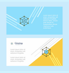 code abstract corporate business banner template vector image