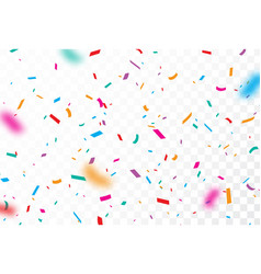 colorful confetti and ribbon celebrations design vector image