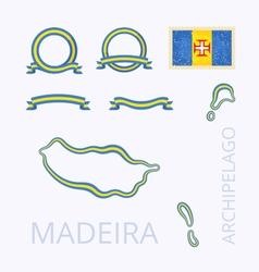 Colors of Madeira vector
