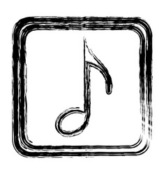 contour symbol music sign icon vector image
