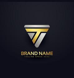 Creative letter t logo concept design vector