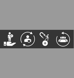 Customer retention icon set simple style vector