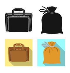 Design of suitcase and baggage sign vector