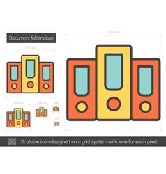 Document folders line icon vector image