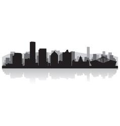 Durban city skyline silhouette vector