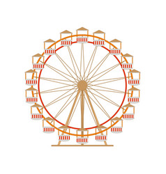 ferris wheel icon park attraction carousel vector image