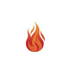 flaming fire logo vector image