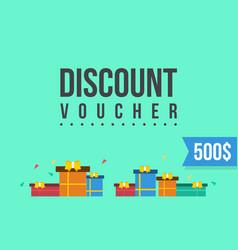 flat design for gift voucher vector image