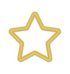 gold colored star shape medal award winning 3d vector image