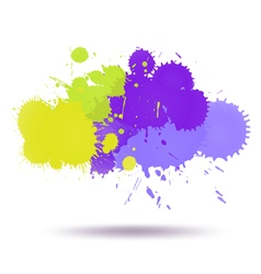 Green and violet color ink vector