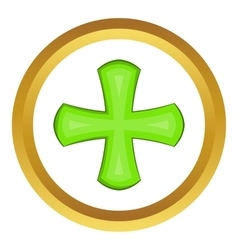 Green cross icon vector