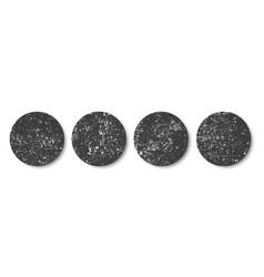 grunge black circlesround frames distress banners vector image