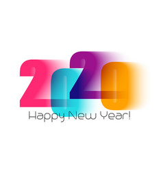 happy new year greeting card with number 2020 vector image