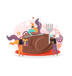 Happy thanksgiving day concept for web vector