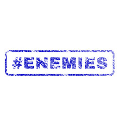Hashtag enemies rubber stamp vector