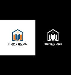 home book logo design vector image