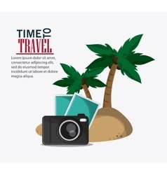 Icon set travel vacations trip vector
