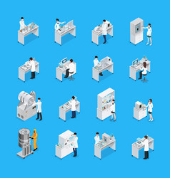 Laboratory works icon set vector