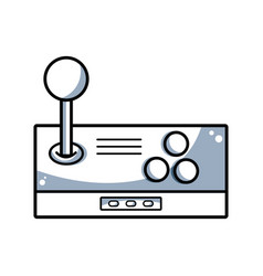line videogame console toplay and enjoy vector image