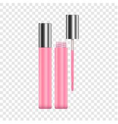 Lipstick pink sparkling tubes mockup vector