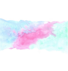 marine blue green mint and purple watercolor vector image