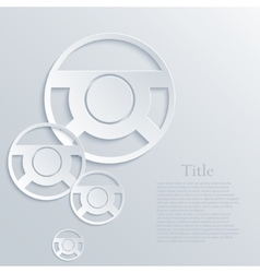 modern steering wheel light background vector image