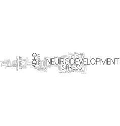 Neurodevelopment word cloud concept vector