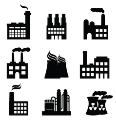 nuclear energy icons vector image