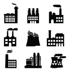 Nuclear energy icons vector