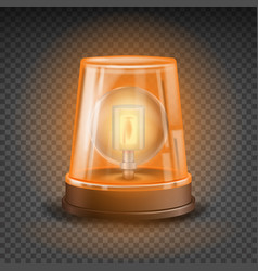 orange flasher siren 3d realistic object vector image