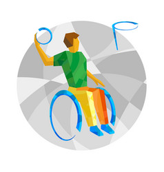 physically disabled basketball player vector image