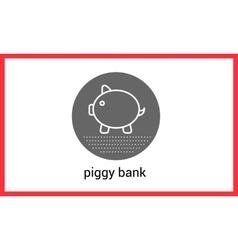 Piggy bank outline contour vector image