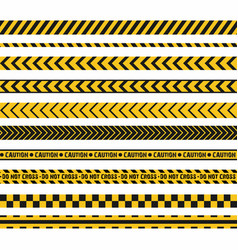 Police line crime scene do not cross seamless vector