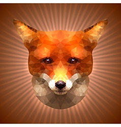 Polygonal Fox vector image