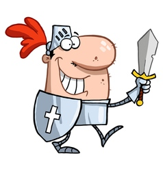 Proud Knight Walking Tall In His Armor vector image