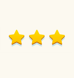 rating stars gold color realistic style vector image
