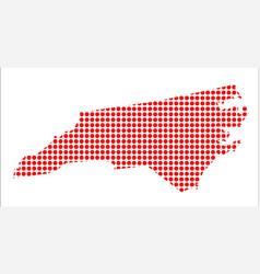 red dot map of north carolina vector image