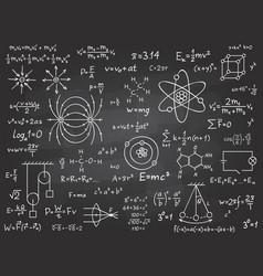 scientific formulas mathematics and physics vector image