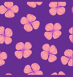 Seamless background image colorful botanic flower vector