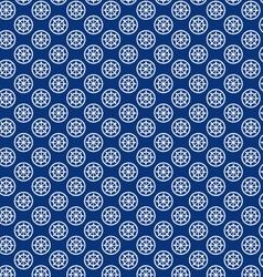Seamless ship wheel pattern vector