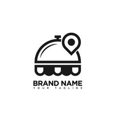 Search food logo design template vector