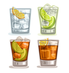 set of short drinks vector image