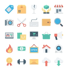 Shopping and E Commerce Colored Icons 2 vector image