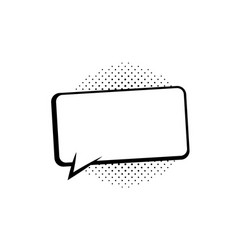 speech bubbles thinking and speaking clouds retro vector image
