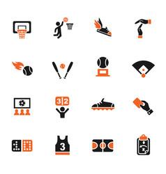 Sport icon set vector