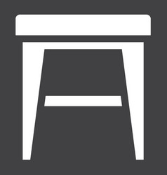 Stool solid icon furniture and interior vector