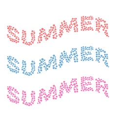 Summer card of multi colored little flowers vector image