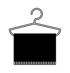 Towel hanging in hook vector